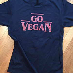 Go vegan red on blk